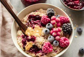 Peanut Butter And Jam Porridge